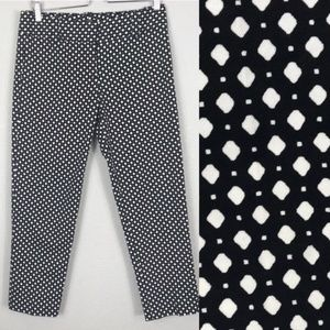 J. Crew black and white City Fit cropped pant